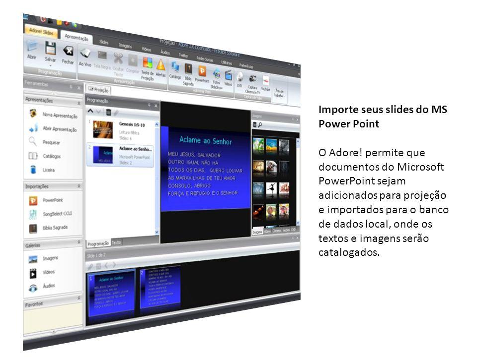 Importe seus slides do MS Power Point