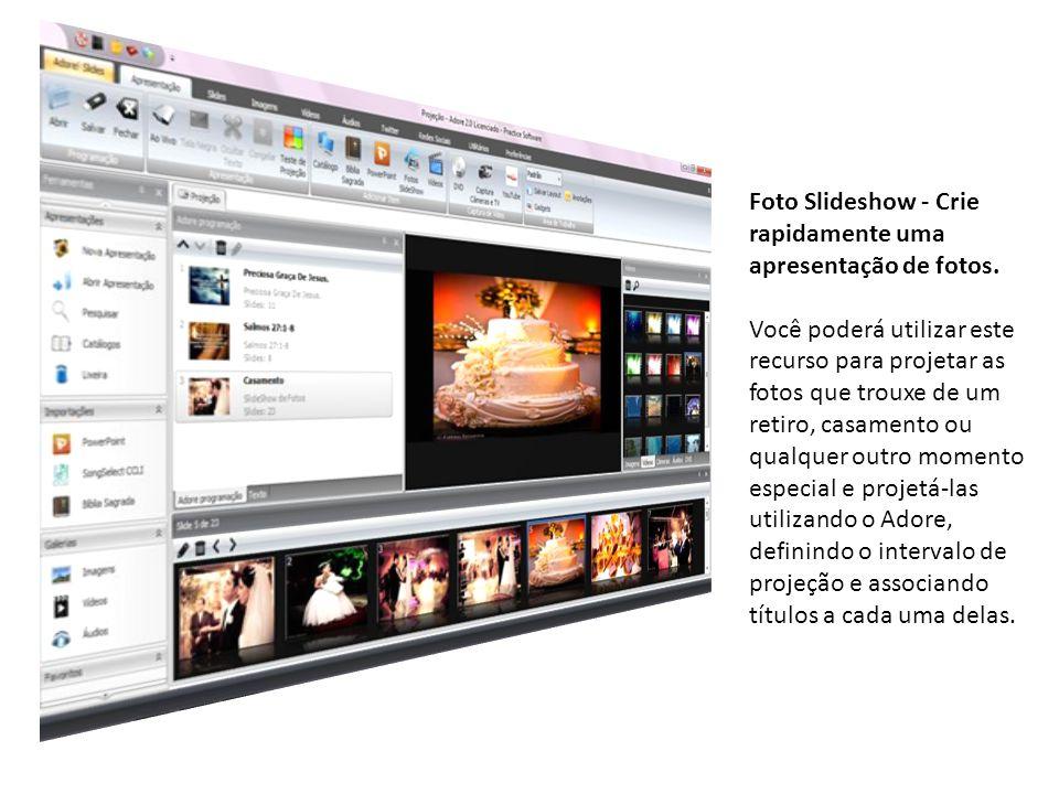 Foto Slideshow - Crie rapidamente uma apresentação de fotos.