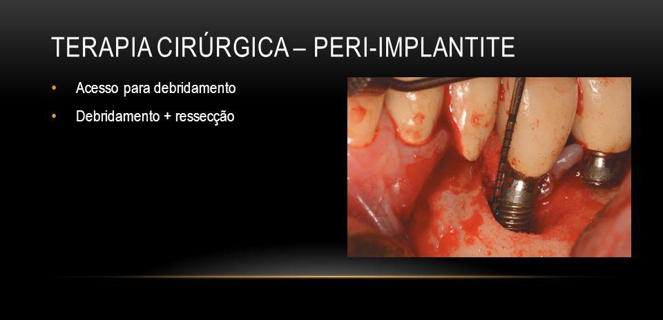 Terapia cirúrgica – Peri-implantite