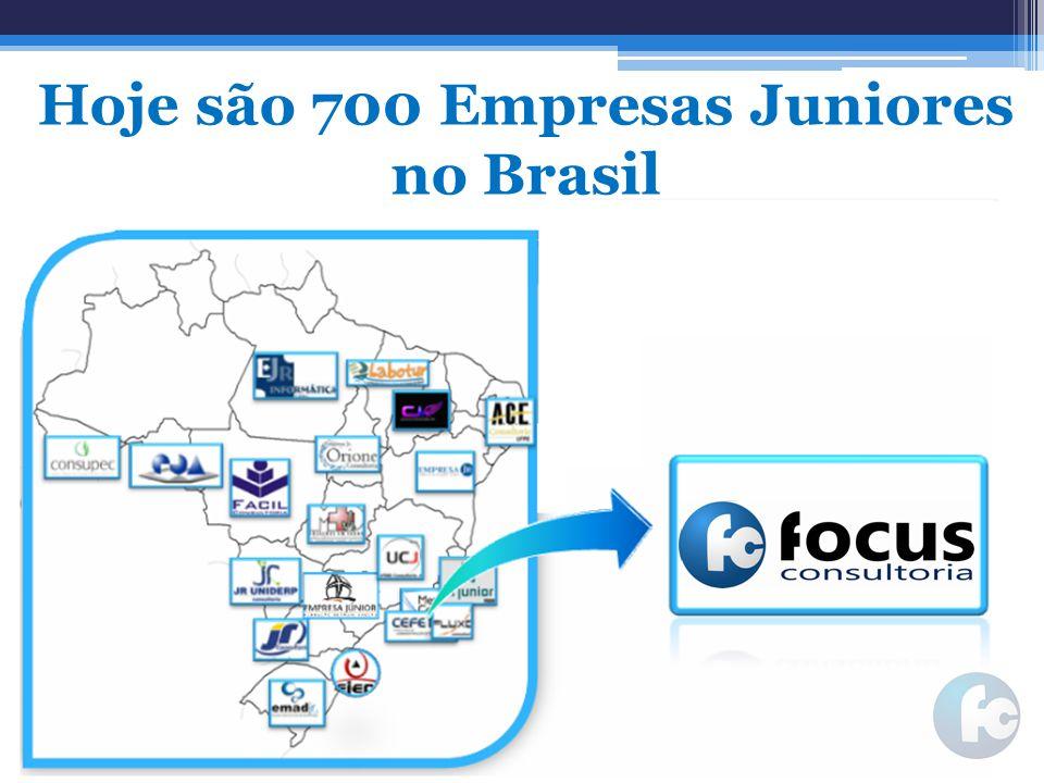 Hoje são 700 Empresas Juniores no Brasil