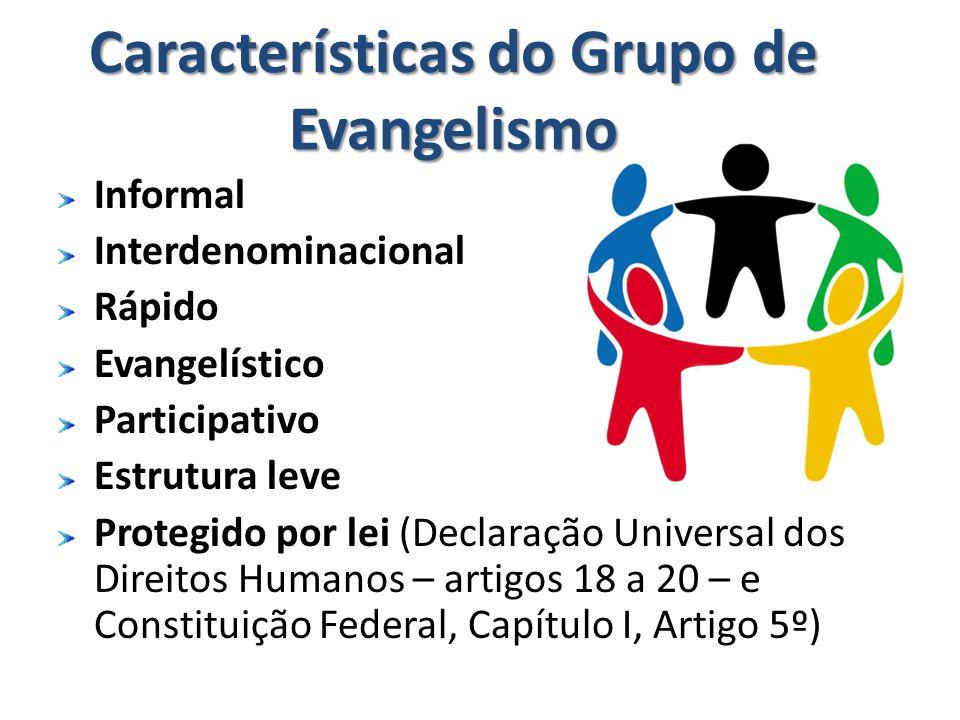 Características do Grupo de Evangelismo