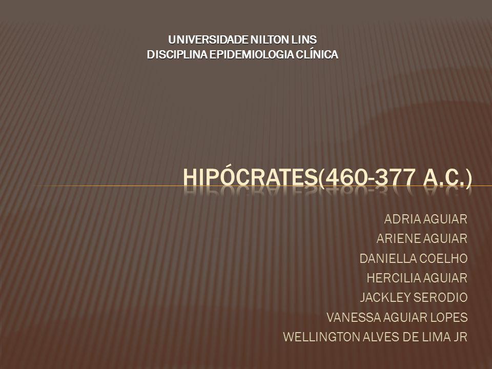 UNIVERSIDADE NILTON LINS DISCIPLINA EPIDEMIOLOGIA CLÍNICA