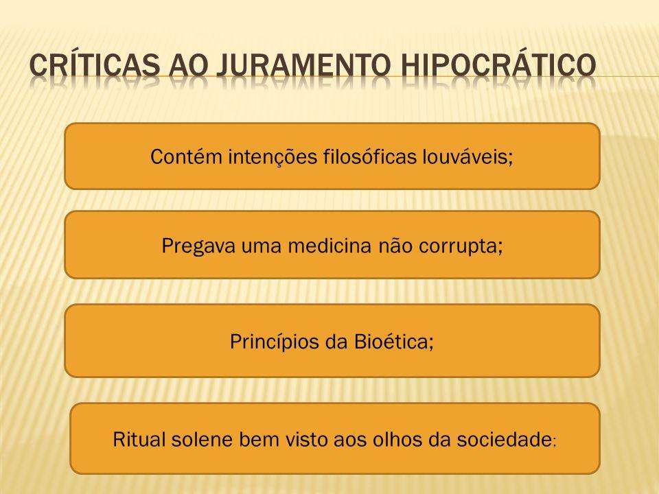 Críticas ao juramento Hipocrático
