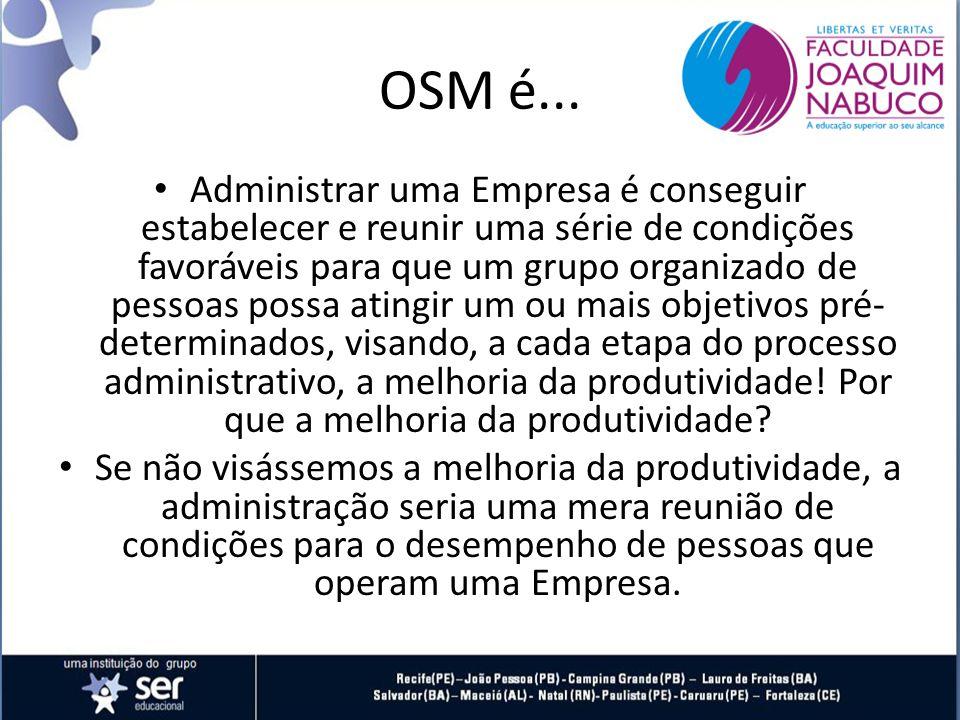 OSM é...