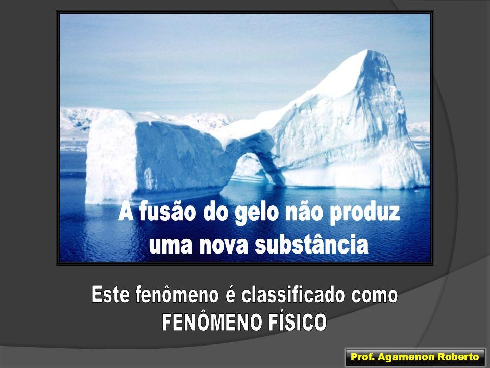 A fusão do gelo não produz uma nova substância