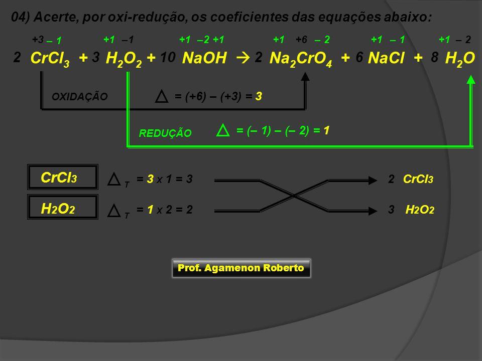 CrCl3 + H2O2 + NaOH  Na2CrO4 + NaCl + H2O
