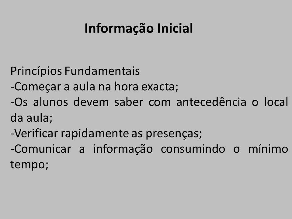 Informação Inicial Princípios Fundamentais