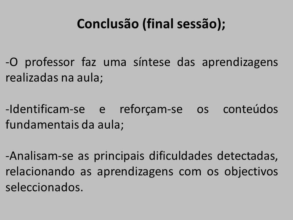 Conclusão (final sessão);