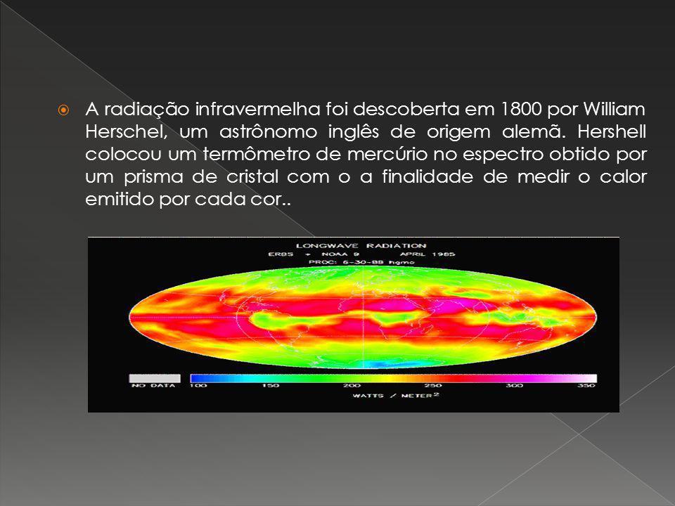 A radiação infravermelha foi descoberta em 1800 por William Herschel, um astrônomo inglês de origem alemã.