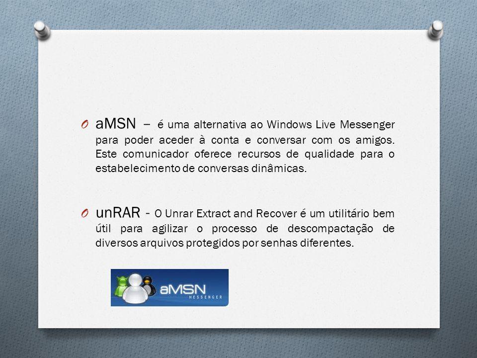 aMSN – é uma alternativa ao Windows Live Messenger para poder aceder à conta e conversar com os amigos. Este comunicador oferece recursos de qualidade para o estabelecimento de conversas dinâmicas.