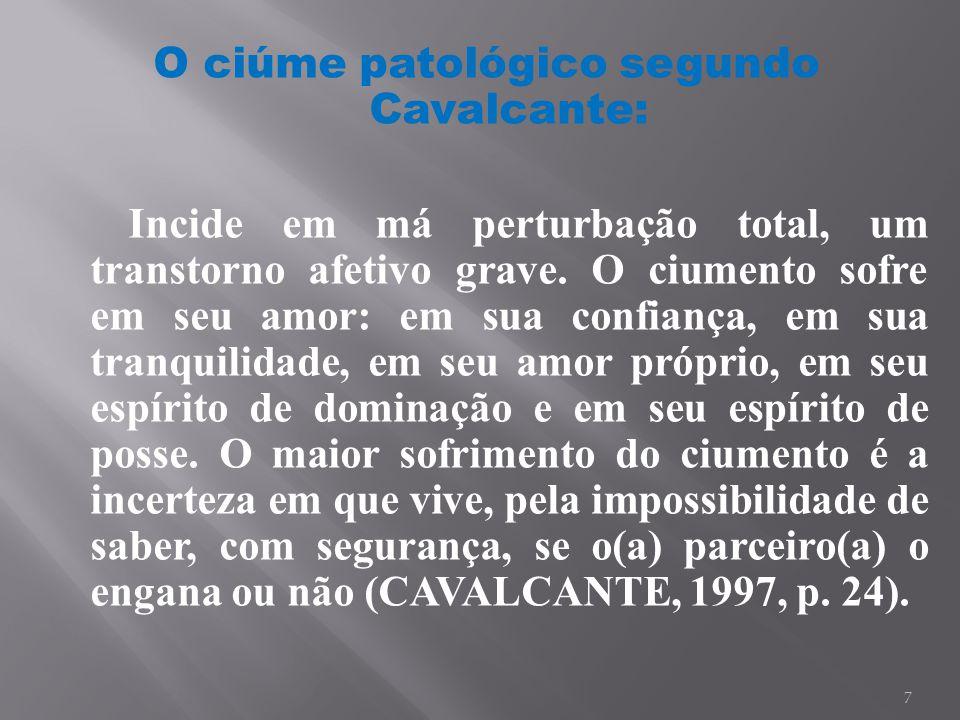 O ciúme patológico segundo Cavalcante: