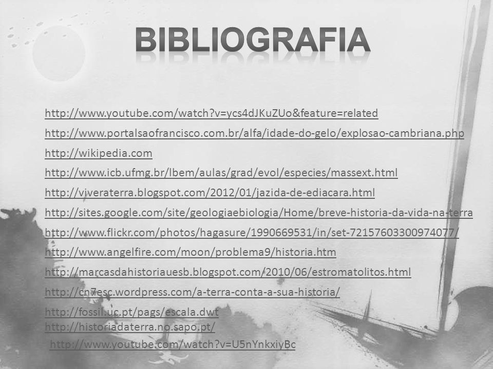 Bibliografia http://www.youtube.com/watch v=ycs4dJKuZUo&feature=related.