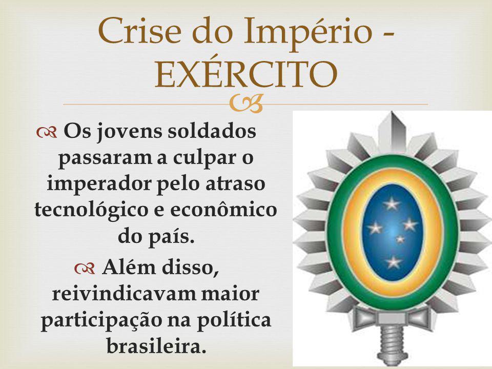 Crise do Império - EXÉRCITO