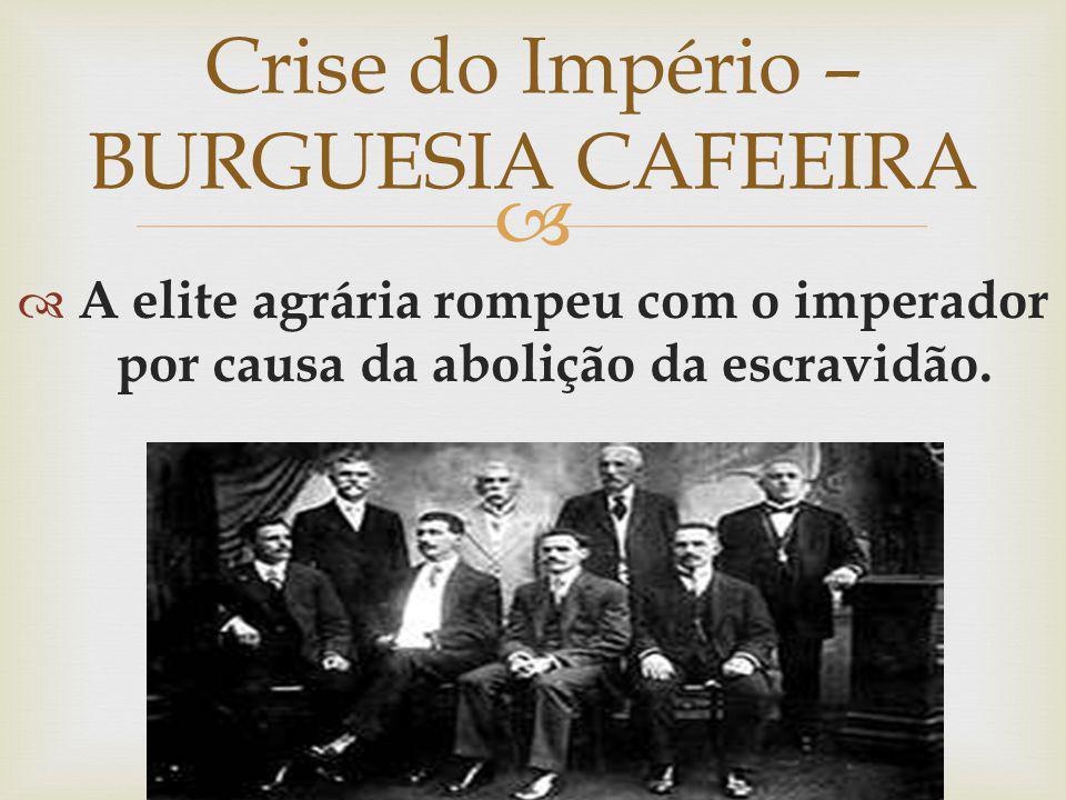 Crise do Império – BURGUESIA CAFEEIRA