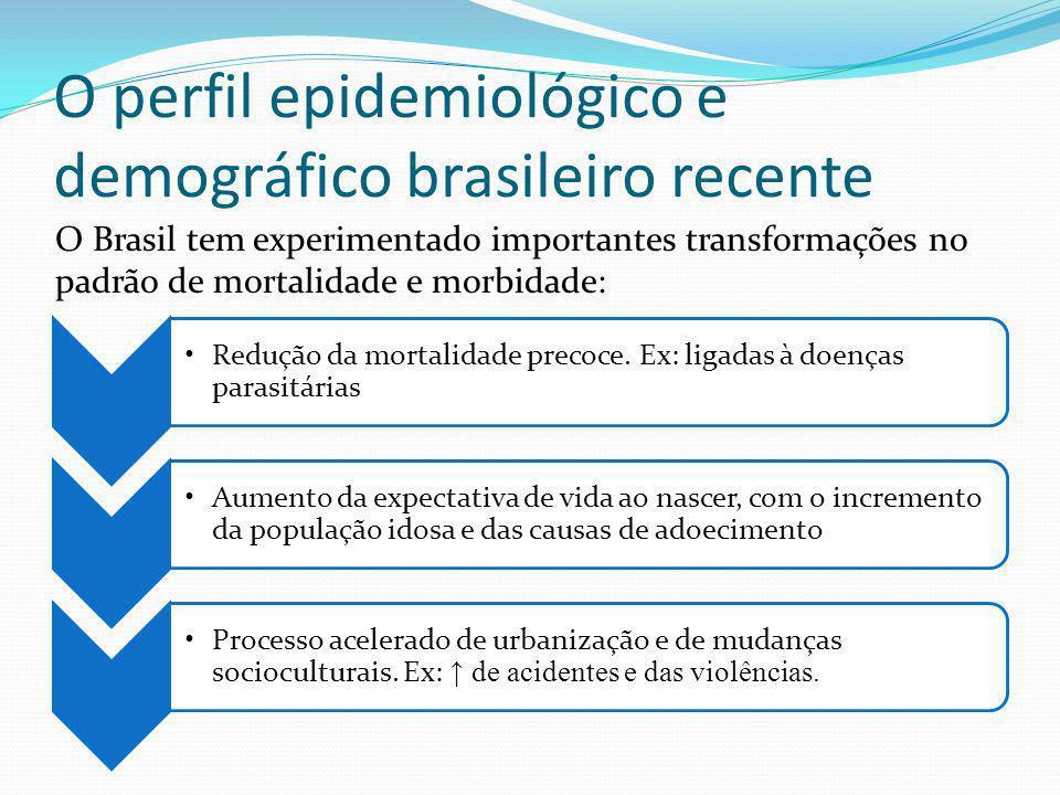O perfil epidemiológico e demográfico brasileiro recente