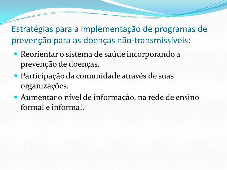 Estratégias para a implementação de programas de prevenção para as doenças não-transmissíveis: