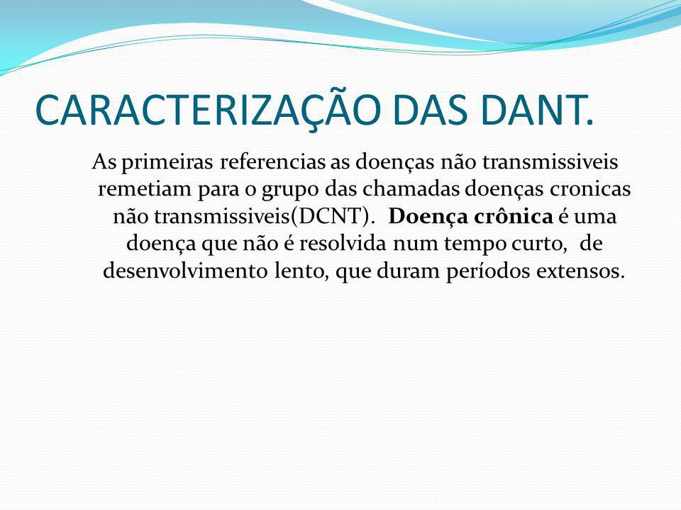 CARACTERIZAÇÃO DAS DANT.