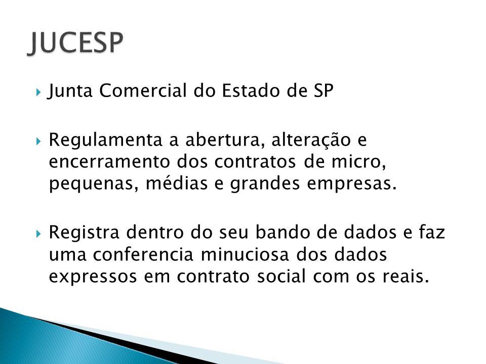 JUCESP Junta Comercial do Estado de SP