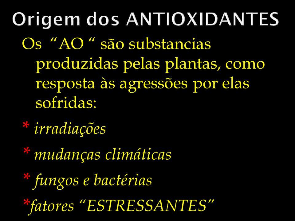 Origem dos ANTIOXIDANTES