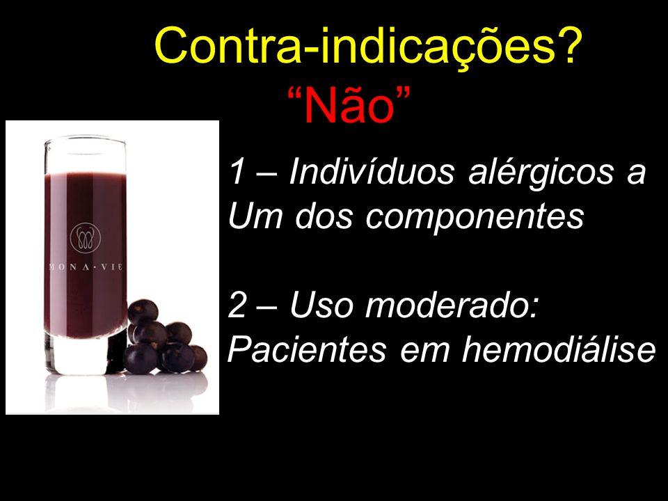 Não Contra-indicações 1 – Indivíduos alérgicos a Um dos componentes