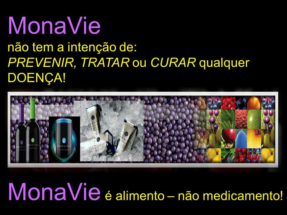 MonaVie é alimento – não medicamento!