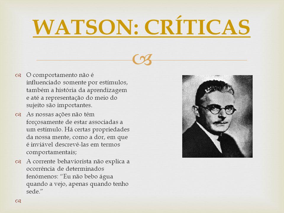 WATSON: CRÍTICAS