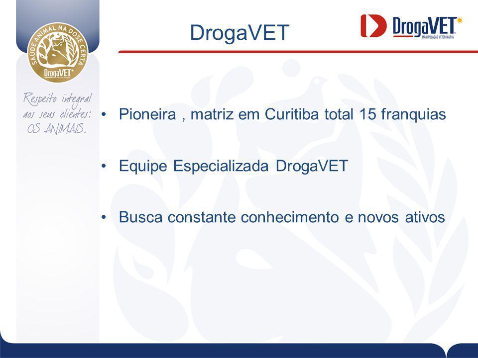 DrogaVET Pioneira , matriz em Curitiba total 15 franquias