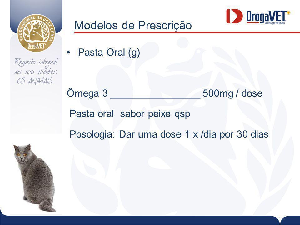 Modelos de Prescrição Pasta Oral (g)