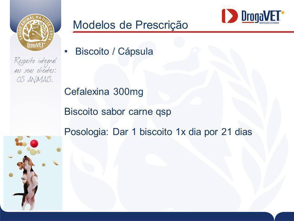 Modelos de Prescrição Biscoito / Cápsula Cefalexina 300mg