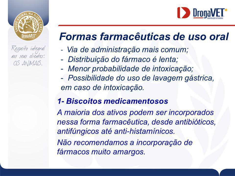 Formas farmacêuticas de uso oral