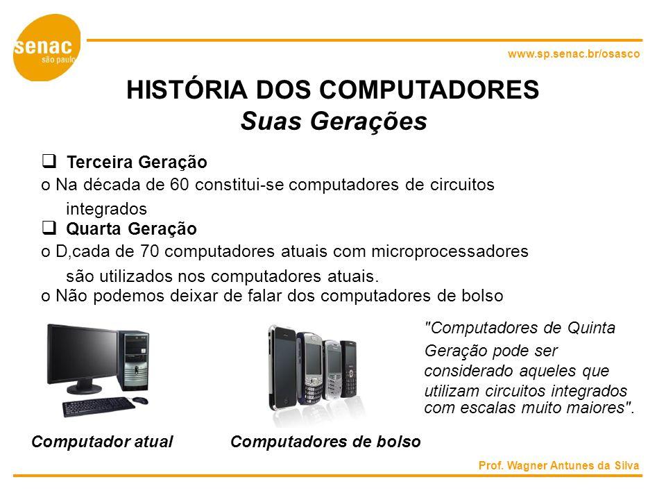HISTÓRIA DOS COMPUTADORES Suas Gerações