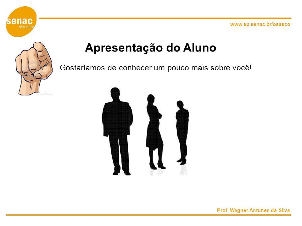 www.sp.senac.br/osasco Apresentação do Aluno. Gostaríamos de conhecer um pouco mais sobre você.