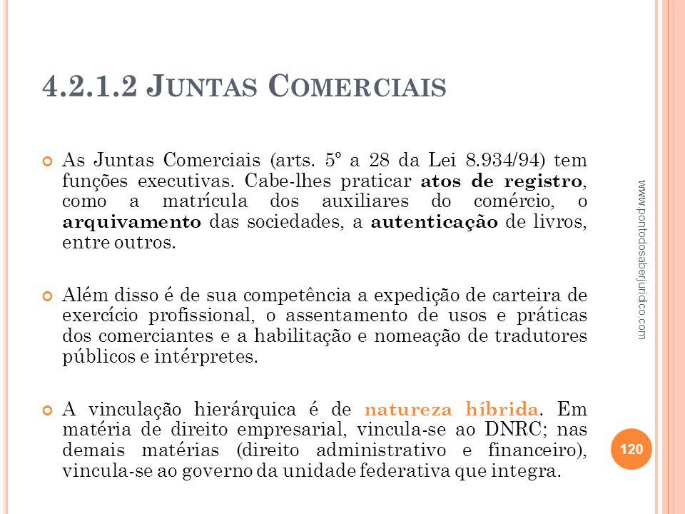 4.2.1.2 Juntas Comerciais