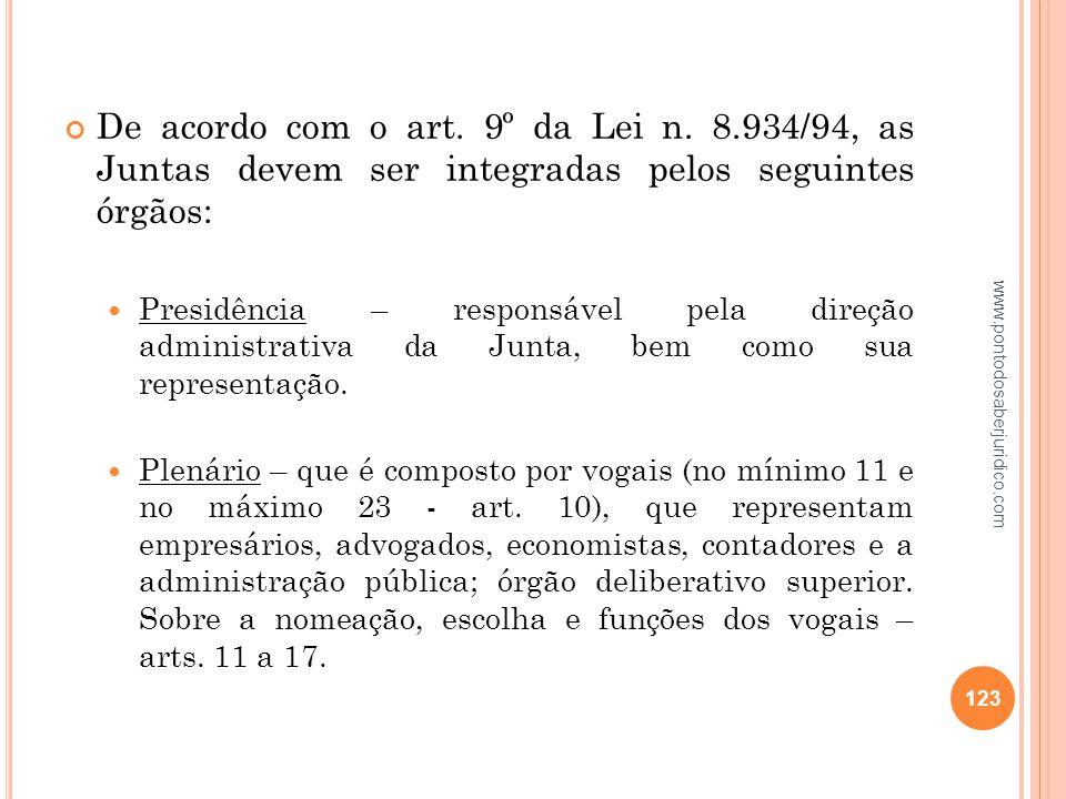 De acordo com o art. 9º da Lei n. 8