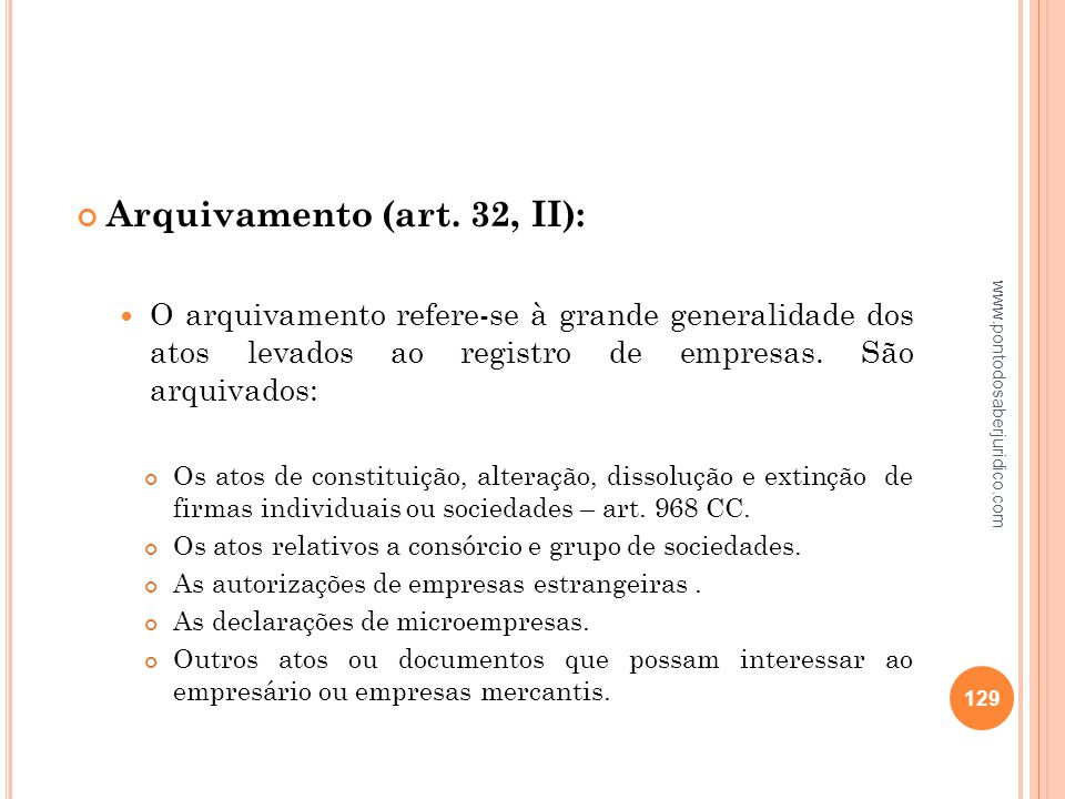 Arquivamento (art. 32, II):