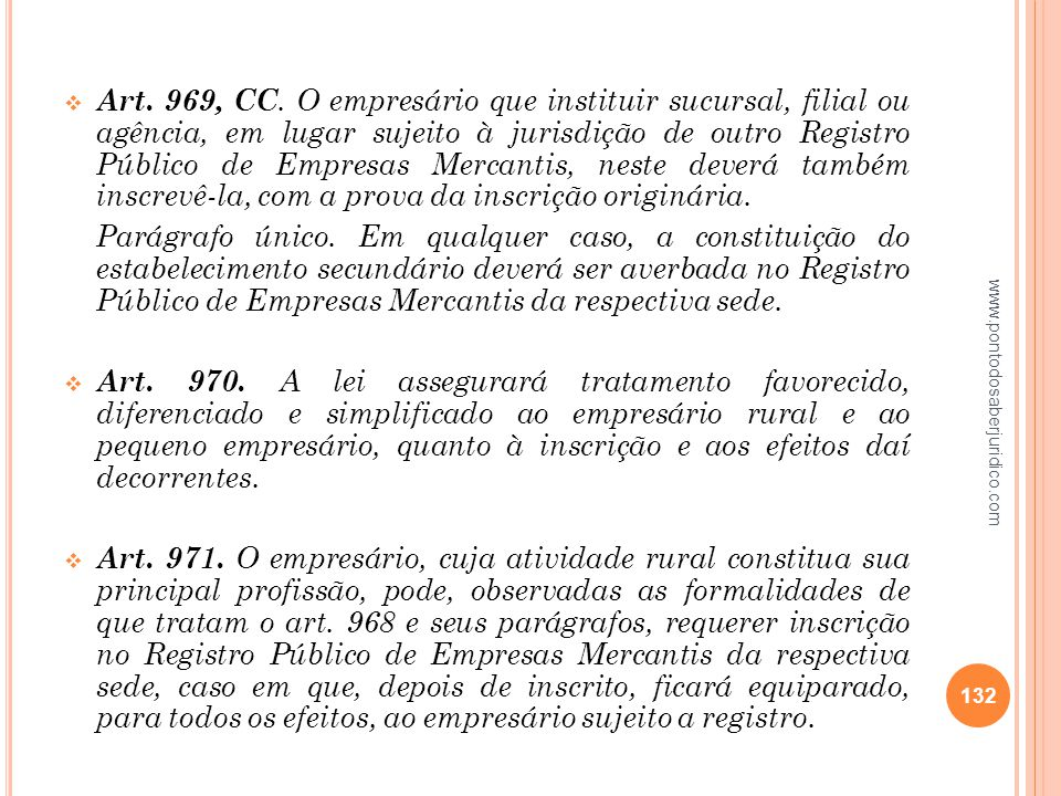 Art. 969, CC. O empresário que instituir sucursal, filial ou agência, em lugar sujeito à jurisdição de outro Registro Público de Empresas Mercantis, neste deverá também inscrevê-la, com a prova da inscrição originária.