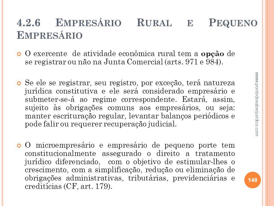 4.2.6 Empresário Rural e Pequeno Empresário