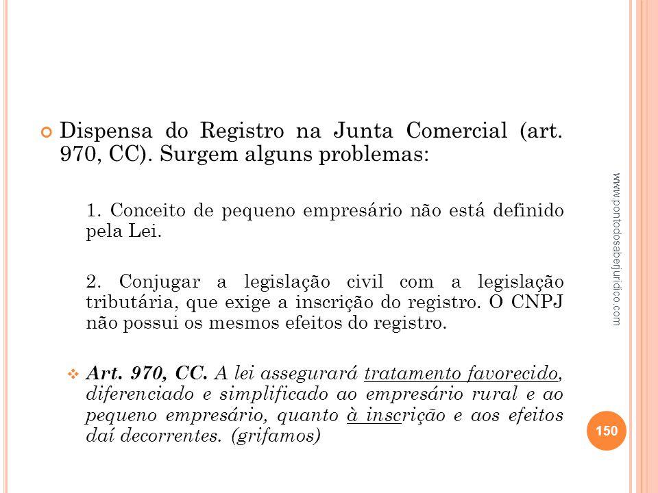 Dispensa do Registro na Junta Comercial (art. 970, CC)