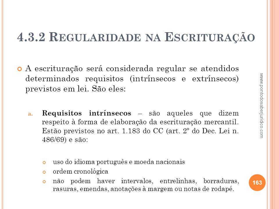 4.3.2 Regularidade na Escrituração