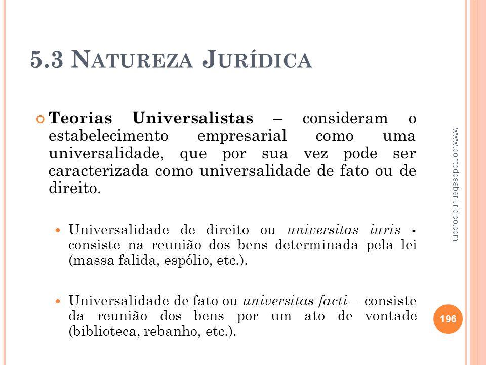5.3 Natureza Jurídica