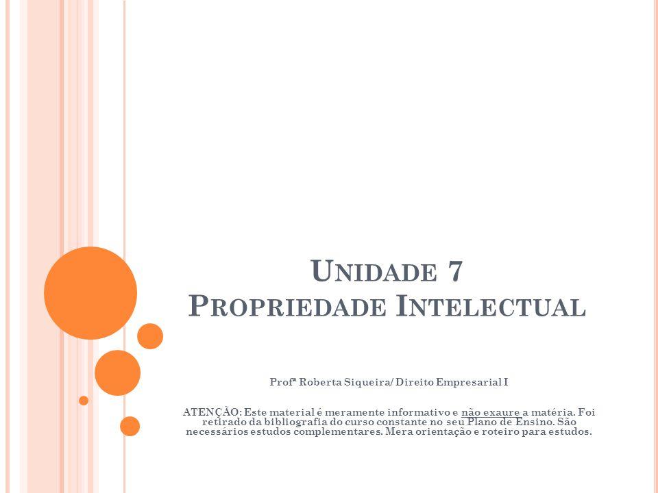 Unidade 7 Propriedade Intelectual