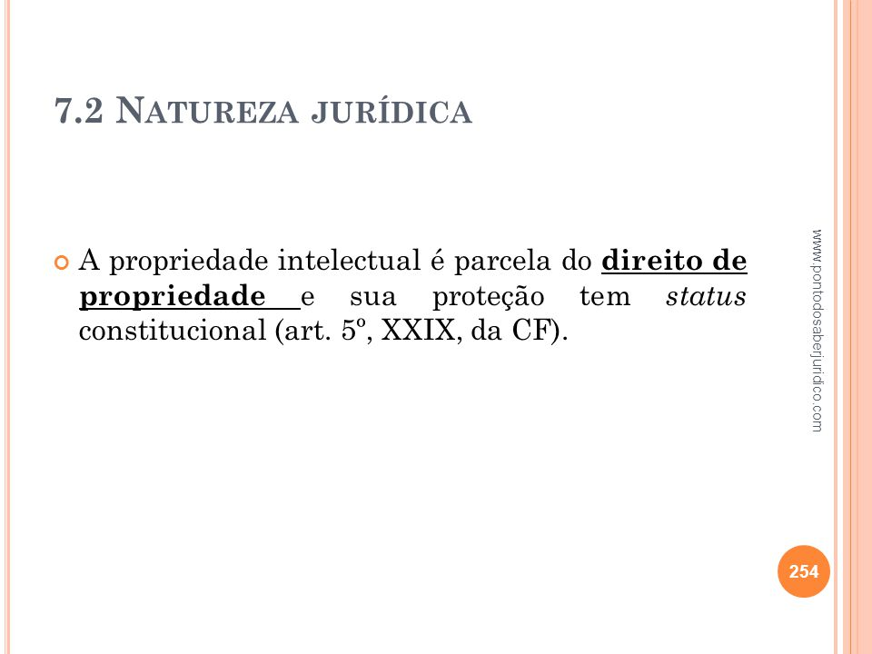 7.2 Natureza jurídica