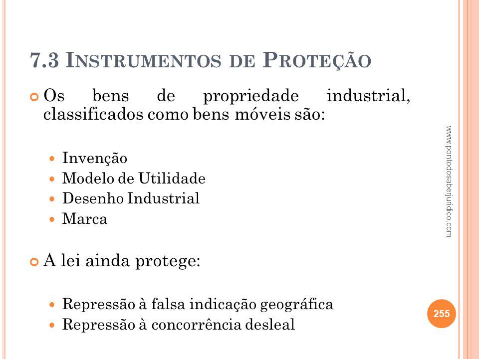 7.3 Instrumentos de Proteção
