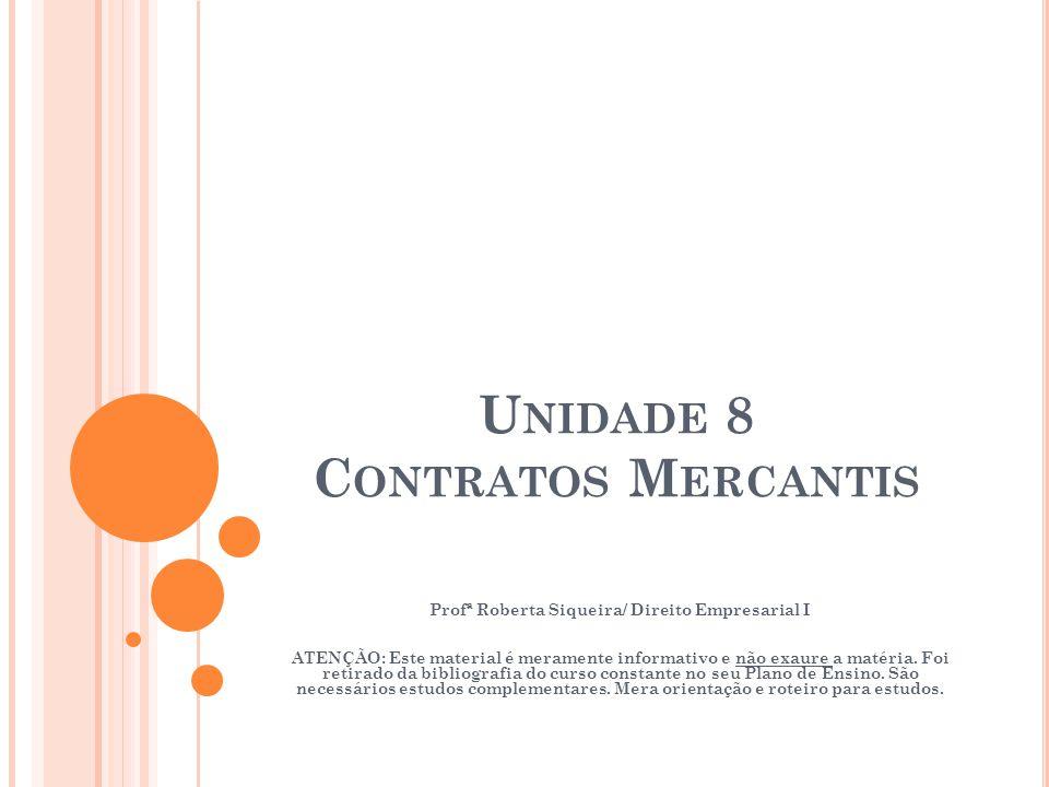 Unidade 8 Contratos Mercantis