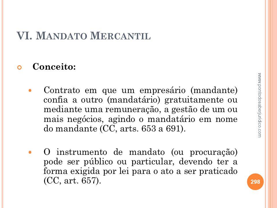 VI. Mandato Mercantil Conceito: