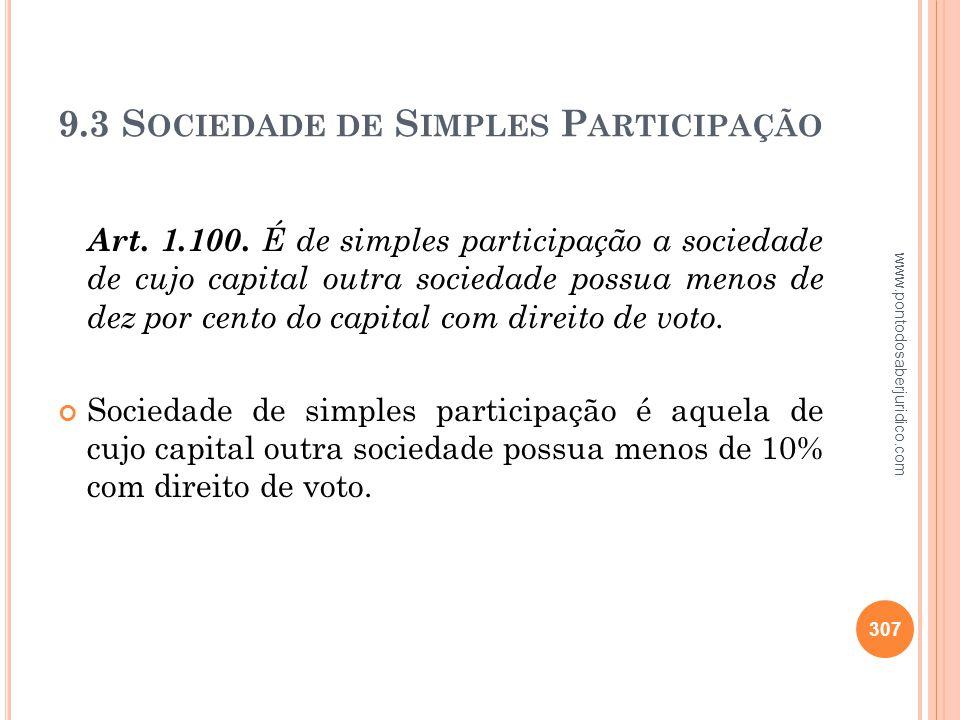 9.3 Sociedade de Simples Participação