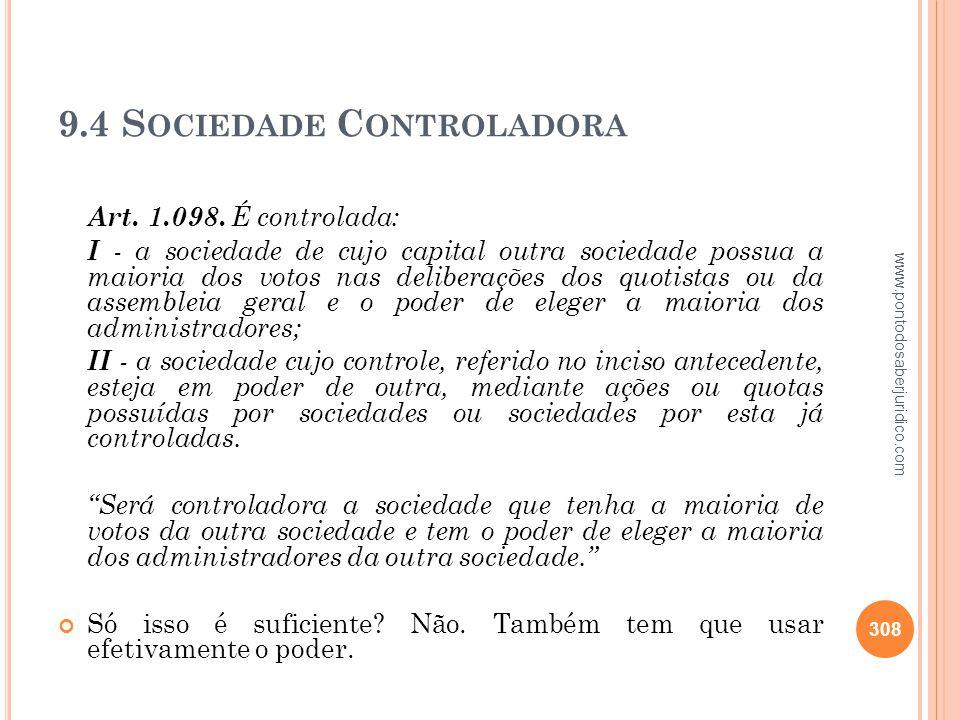 9.4 Sociedade Controladora