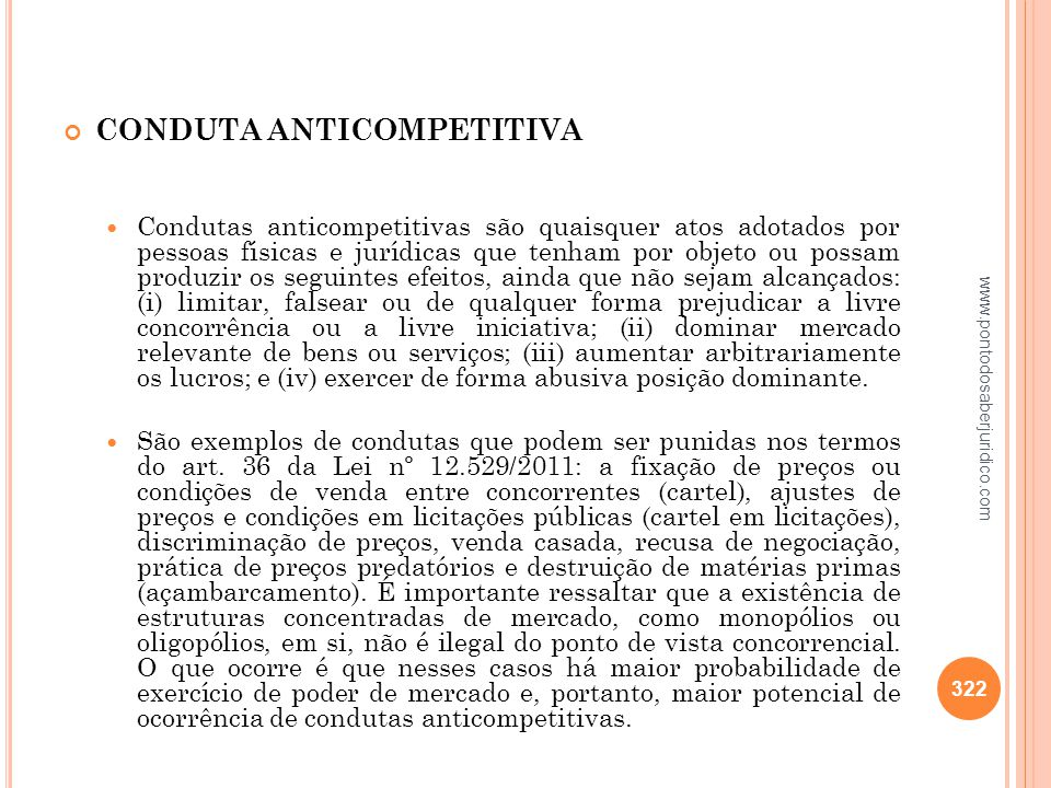 CONDUTA ANTICOMPETITIVA