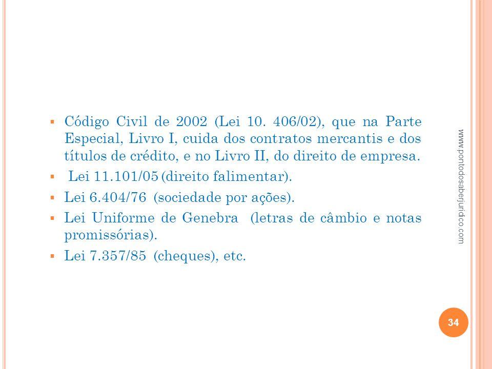 Lei 11.101/05 (direito falimentar).