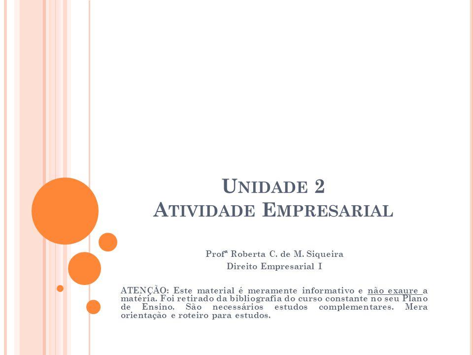 Unidade 2 Atividade Empresarial